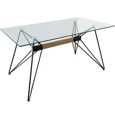 Web Rectangular Glass Dining Table