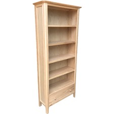 Tall Carolina American Oak Bookcase