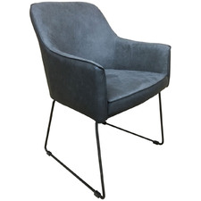 Charcoal Ideal Faux Suede Armchair