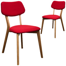 Red Izzy Chair (Set of 2)