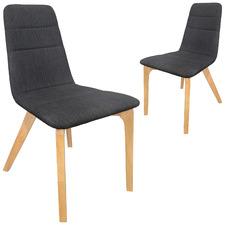 6Ixty Dark Grey Terrazzo Chair (Set of 2)