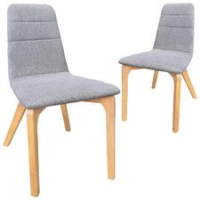 6Ixty Light Grey Terrazzo Chair (Set of 2)