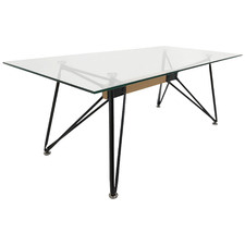 Black Web Metal & Glass Coffee Table