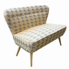 Blue Diamond 2 Seater Atom Chair