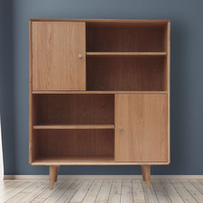 Niche Oak Wood High Bookcase