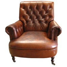 Zadie Italian Leather Armchair