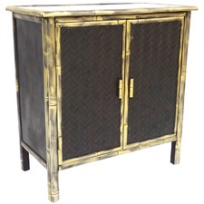 Black & Gold Distressed Nuana Cabinet