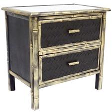 Black & Gold Distressed Nuana Bedside Cabinet