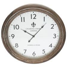 Walnut Charing Cross Round Clock