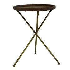 Gold & Walnut Ashton Side Table