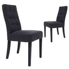 Danica Classic Linen Dining Chairs (Set of 2)