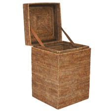 Tobacco Hatien Rattan Storage Side Table