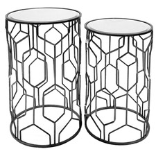 2 Piece Black Ethan Side Table Set