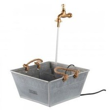 Floating Tap Water Fountain in Galvanised Basin