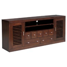 Holland 185cm Entertainment Unit in Mahogany or Chocolate