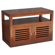 Holland Entertainment Unit in Mahogany or Chocolate