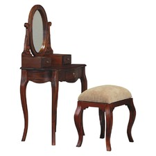 Queen Ann 3 Drawer Small Dressing Table and Stool