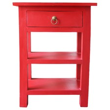 Classic 1 Drawer 2 Shelves End Table