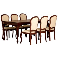 7 Piece Queen Ann Dining Table Set