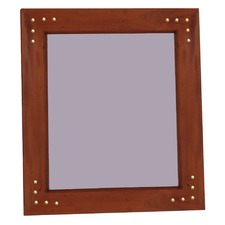 Wooden Frame Mirror 100 x 160cm with Stud Pattern
