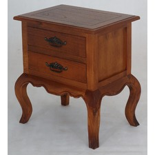 Emile French Provincial 2 Drawer Lamp Table
