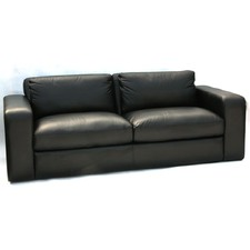Joe 3 Seater Leather Sofa