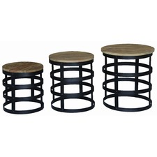 Round NUT Lamp Table (Set of 3)