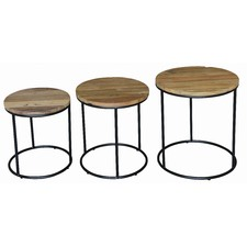 Round Ziggy Lamp Table (Set of 3)