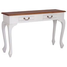 Queen Ann 2 Drawer Sofa Table