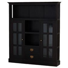 2 Door 2 Drawer Glass Display Cabinet