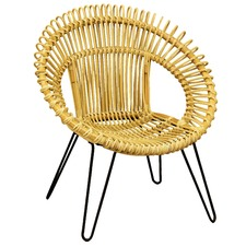 Natural Round Woven Rattan Leisure Chair