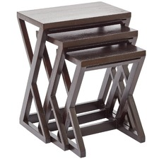 3 Piece Cross Legged Nesting Tables