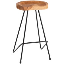 Industrial Pin Iron Barstool