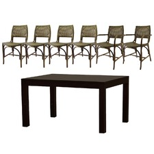 Austin 2 Arm Chairs and 4 Dining Chairs Dining Set