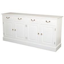 White Tasmania 4 Door 4 Drawer Buffet