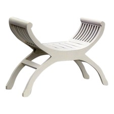White 1 Seater Stool