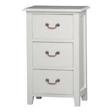 White 3 Drawer Lamp Table