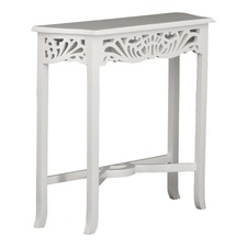White Carved Console