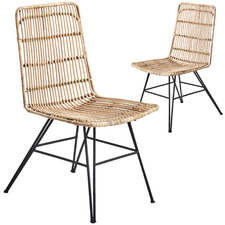 Rattan Dining Chair (Set of 2)