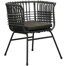 Dark Grey Ramayana Rattan Accent Chair