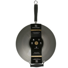 Black Wildflour 35cm Carbon Steel Wok