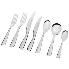 56 Piece Silver Soho Stainless Steel Cutlery Set