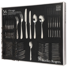 56 Piece Chicago Stainless Steel Cutlery Set