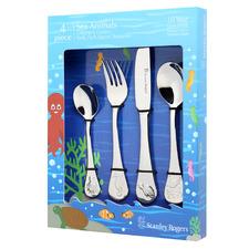 4 Piece Childrens' Sea Animals Cutlery Set