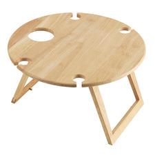 Round Rubberwood Travel Picnic Table