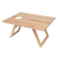 Natural Rubberwood Travel Picnic Table