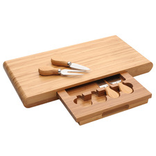 5 Piece Bamboo Cheese Board Set