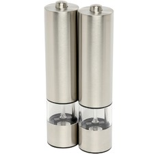 Set of 2 Electric Stainless Steel Salt & Pepper Mills