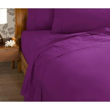 225 Thread Count Percale Cotton and Polyester Fitted Sheet