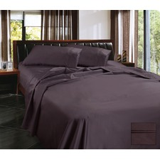 1450 Thread Count Egyptian Cotton Sateen 4 Piece Sheet Set